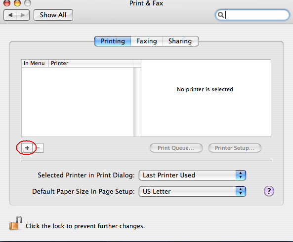 Mac OS X Printing with LPD